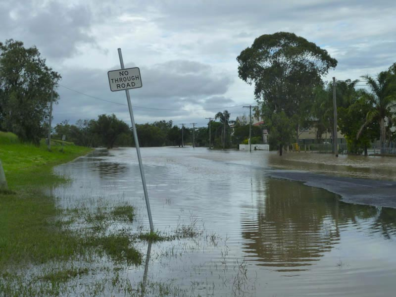 Dalby, durant les inondations