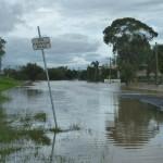 Dalby, durant les inondations