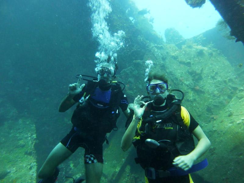 Plongee au Liberty Wreck24