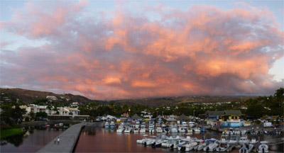 Port de Saint Gilles les Bains au coucher de soleil