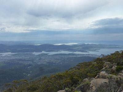 Vue d'Hobart du Mont Wellington
