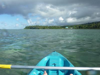 Sur le kayak, on échappe à un bel orage !