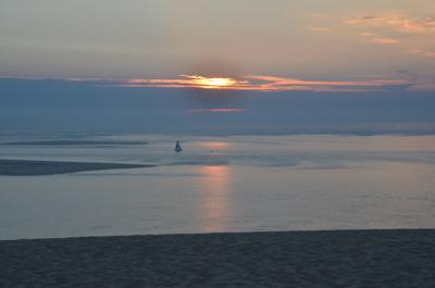 Coucher de soleil de la Dune du Pyla